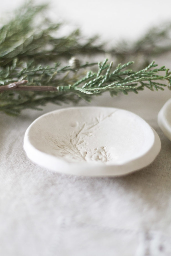 DIY Christmas Gift Clay Jewelry Dish