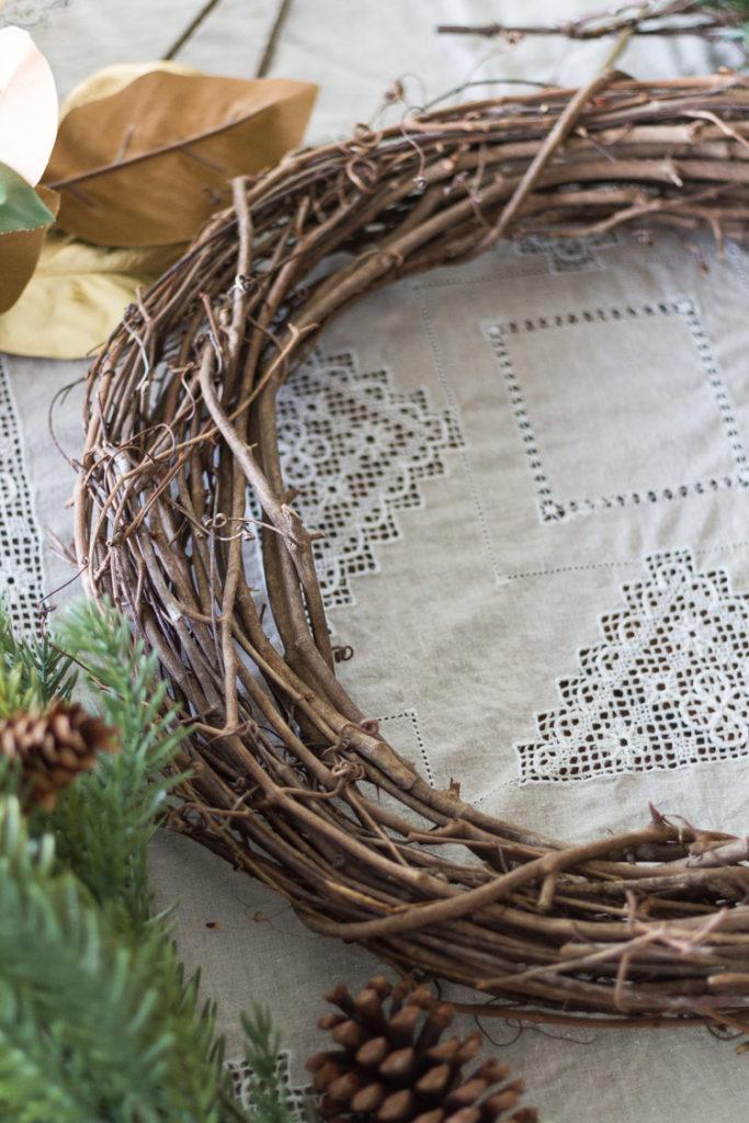 DIY Holiday Wreath - Multi-Greenery With Bells