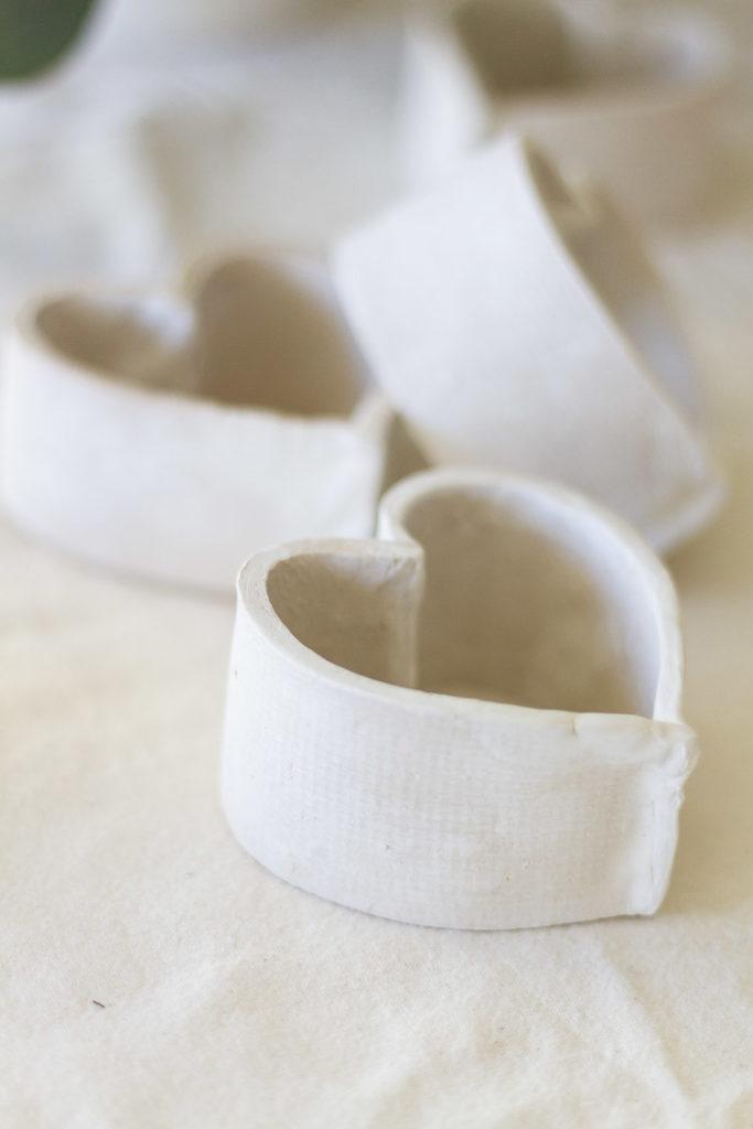 Valentine's Day DIY- Clay Heart Napkin Holders 1